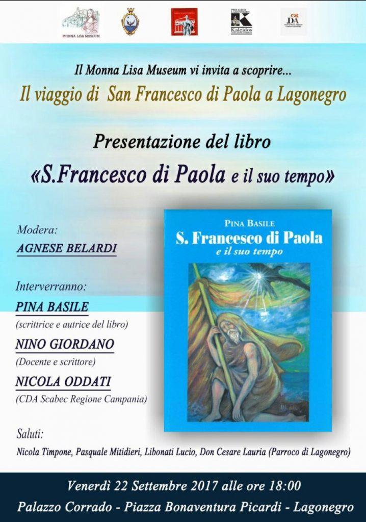locandina Presentazione del Libro S. Francesco di Paola e il suo tempo